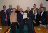 GPC members with panel Members David Guy (Chairman), Win Hollis, Dennis Russell and Reg Barry